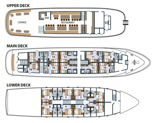 Princess Aloha Deck Plan