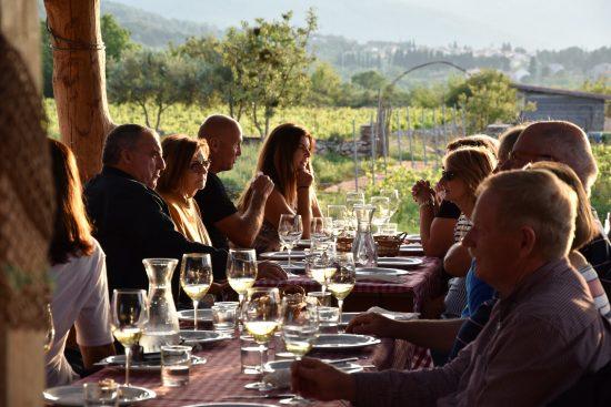 Dining at Hora Estate, Stari Grad Plain, Hvar