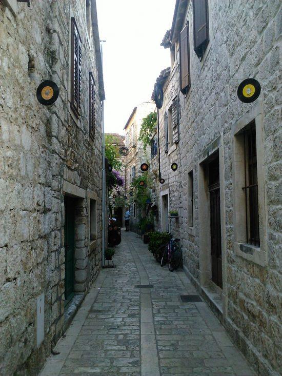 Street in Stari Grad, Hvar Island