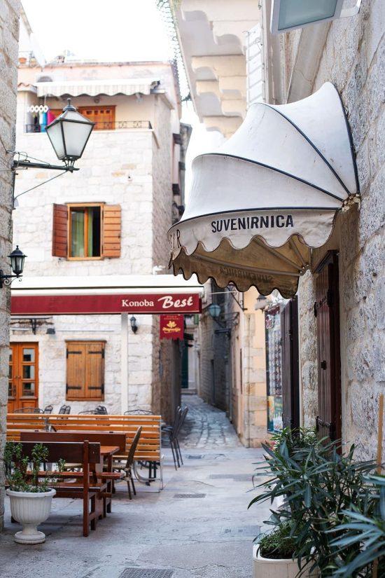 Street scene in Trogir, Croatia