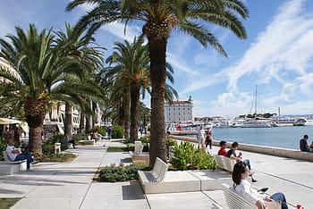 The promenade in Split