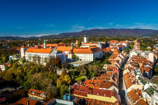 Bird's eye view of Zagreb's Upper Town